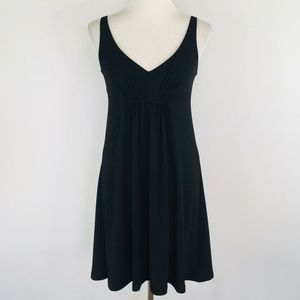 CAbi Black Empire Waist Jersey Dress 574